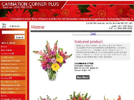 Carnation Corner Plus (204-345-9450) - Onglet de site Web - http://www.carnationcornerplus.com