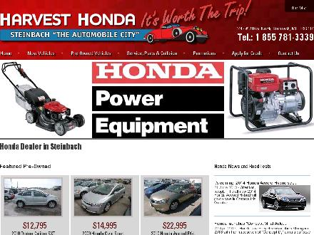 Harvest Honda (204-326-1311) - Website thumbnail - http://www.harvesthonda.com
