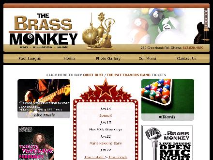 Brass Monkey Bar & Billiards (613-820-4889) - Website thumbnail - http://www.brassmonkeybilliards.com