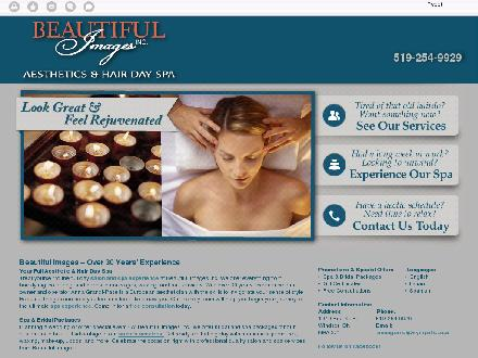 Beautiful Images Hair & Aesthetics Day Spa (519-254-9929) - Onglet de site Web - http://www.beautifulimagesspa.com/en/home.html