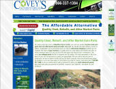 Covey's Auto Recyclers Ltd (1-866-225-4976) - Onglet de site Web - http://www.coveys.com