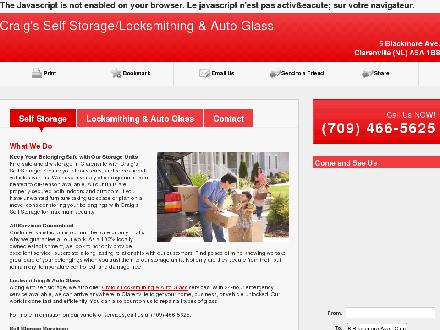 Craig's Self Storage (709-466-5625) - Website thumbnail - http://craigslockandstorage.ca