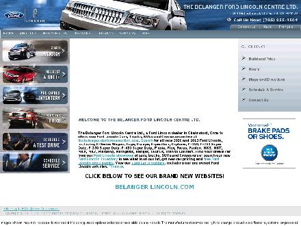 Belanger Ford Lincoln Centre Limited (705-419-0934) - Website thumbnail - http://www.belanger.com