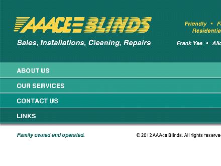 AAAce Blinds (604-501-1388) - Website thumbnail - http://www.aaaceblinds.com