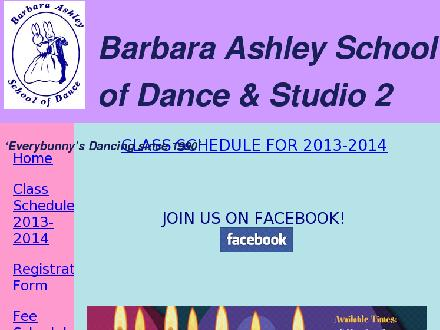 Ashley Barbara School Of Dance & Studio 2 (709-368-4664) - Onglet de site Web - http://www.barbaraashleydance.com
