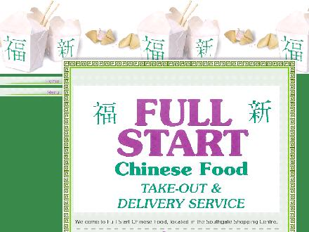 Full Start Chinese Food Take Out (613-523-3247) - Website thumbnail - http://www.fullstartchinesefood.com