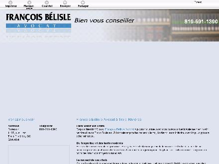 B&eacute;lisle Fran&ccedil;ois (819-691-1390) - Onglet de site Web - http://avocattroisrivieres.com/