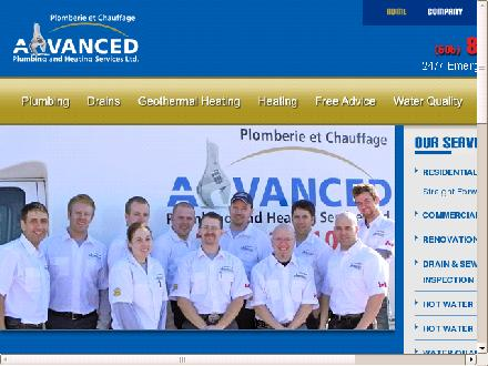 Advanced Plumbing &amp; Heating Services Ltd (506-802-7658) - Onglet de site Web - http://www.advancedplumbing.org