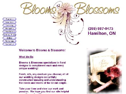 Blooms &amp; Blossoms (289-887-0473) - Website thumbnail - http://www.bloomsandblossoms.net