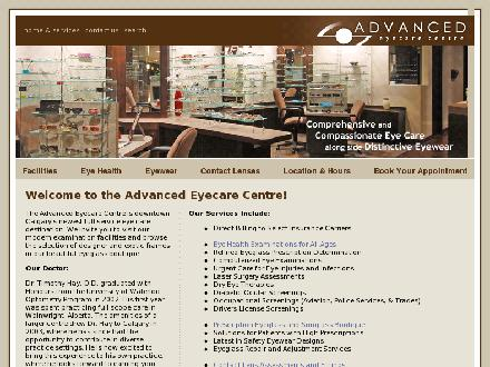 Advanced Eyecare Centre (403-233-0405) - Onglet de site Web - http://www.advancedeyecarecentre.com