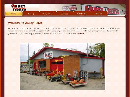 Abbey Rents (204-633-5624) - Onglet de site Web - http://www.abbeyrents.ca
