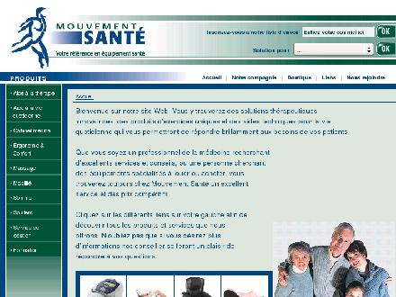 Mouvement Sant&eacute; (450-778-2520) - Onglet de site Web - http://www.mouvementsante.com