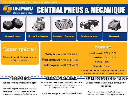 Central Pneus et M&eacute;canique (418-871-8281) - Onglet de site Web - http://www.pneuscentral.ca
