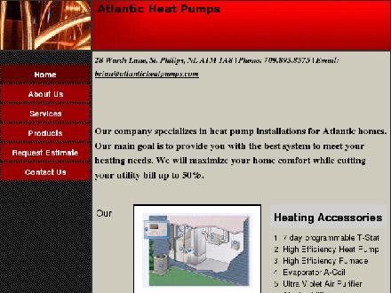 Atlantic Heat Pumps (709-728-0063) - Website thumbnail - http://www.atlanticheatpumps.com/