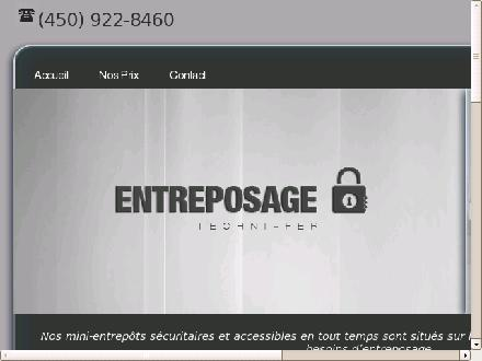 Entreposage Techni-Fer Inc (450-922-8460) - Onglet de site Web - http://entreposagetechni-fer.ca/