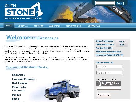 Glen Stone Excavation &amp; Trucking Ltd (902-876-0127) - Onglet de site Web - http://WWW.GLENSTONE.CA