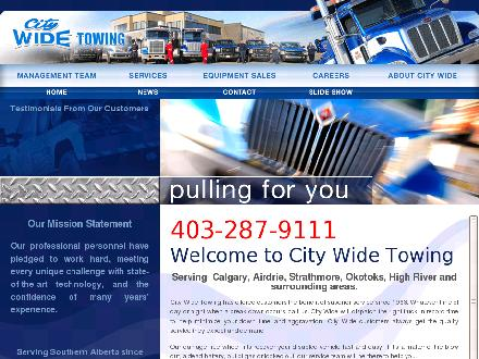City Wide Towing & Recovery Service Ltd (403-798-0885) - Onglet de site Web - http://www.citywidetowing.com