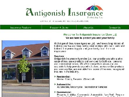 Antigonish Insurance Agencies Ltd (902-863-3690) - Onglet de site Web - http://www.antigonishinsurance.com