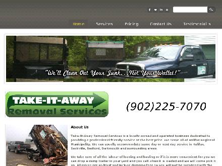 Take-It-Away Removal Services (902-701-9443) - Website thumbnail - http://www.take-it-away.com
