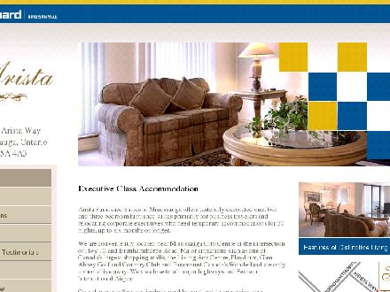 Arista Furnished Suites (289-814-4893) - Onglet de site Web - http://WWW.aristafurnishedsuites.com