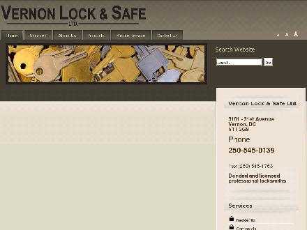 Vernon Lock & Safe Ltd (250-545-0139) - Website thumbnail - http://www.vernonlock.ca