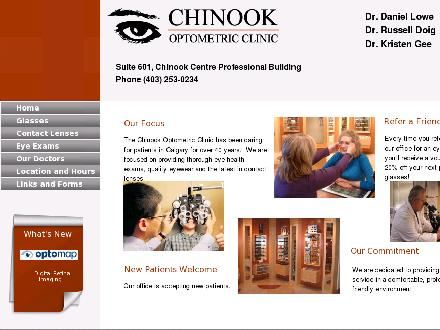 Chinook Optometric Clinic (403-766-9093) - Onglet de site Web - http://www.chinookclinic.com