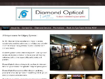 Diamond Optical Vision Care Centre (403-254-4467) - Onglet de site Web - http://www.diamondoptical.com
