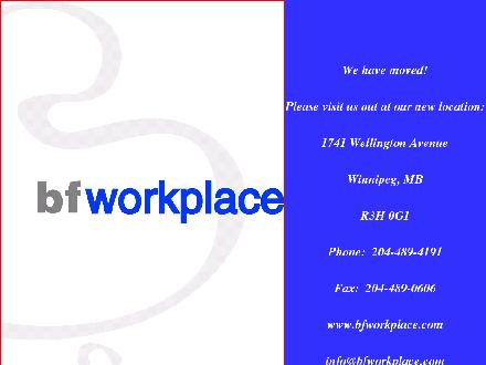 BF Workplace (204-489-4191) - Website thumbnail - http://www.bfworkplace.com