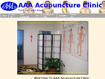 AAA Acupuncture (604-598-9529) - Website thumbnail - http://www.aaaacupunctureclinic.com