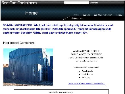 Sea-Can Containers (1989) Ltd (780-440-4037) - Onglet de site Web - http://www.seacan.com