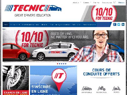 Ecole De Conduite Tecnic (418-529-3868) - Onglet de site Web - http://www.tecnic.ca