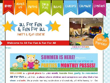 All For Fun &amp; Fun For All-Party &amp; Play Centre Inc (416-288-0349) - Website thumbnail - http://www.allforfun.ca