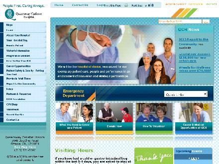 Queensway Carleton Hospital (613-721-2000) - Website thumbnail - http://www.qch.on.ca