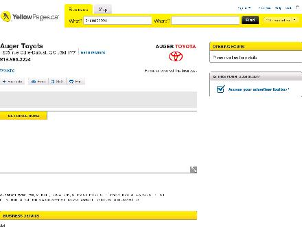 Auger Toyota (819-986-2224) - Onglet de site Web - http://www.yellowpages.ca/bus/Quebec/Gatineau/Auger-Toyota/6222917.html?what=8199862224&amp;wh