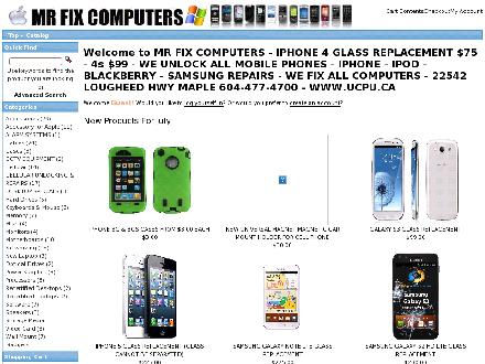 Mr Fix Computers (604-477-4700) - Website thumbnail - http://www.ucpu.ca