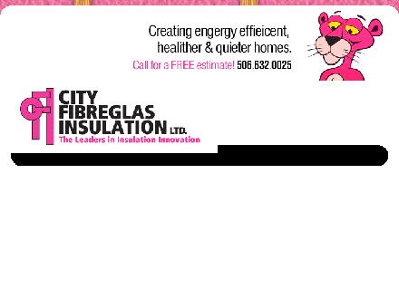City Fibreglas Insulation Ltd (506-632-0025) - Website thumbnail - http://www.cityfibreglas.ca