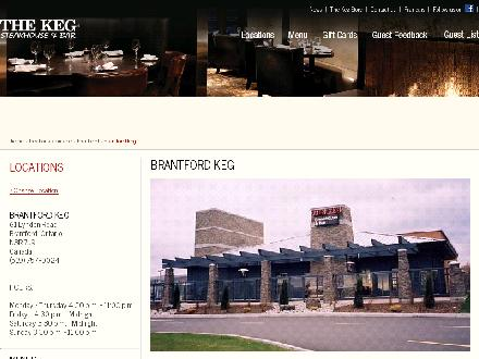 The Keg Steakhouse &amp; Bar (519-757-0024) - Onglet de site Web - http://www.kegsteakhouse.com/en/locations/ON/brantford/brantford-keg/