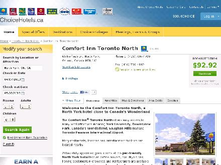Comfort Inn Toronto North (416-736-4700) - Website thumbnail - http://www.choicehotels.ca/cn283