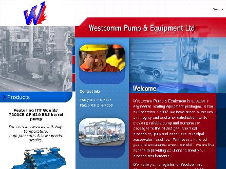 Westcomm Pump & Equipment Ltd (403-215-7867) - Website thumbnail - http://www.westcommpump.com