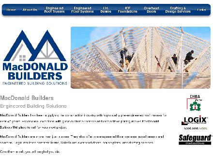 MacDonald Builders And Suppliers Ltd (506-458-9373) - Onglet de site Web - http://www.macdonaldbuilders.ca