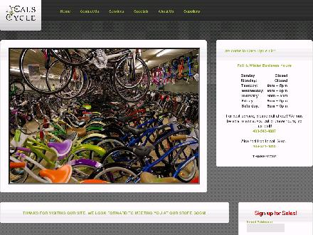 Cal's Cycle (403-546-4007) - Onglet de site Web - http://www.calscycle.ca