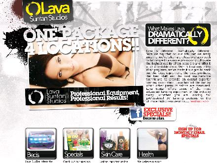 Lava Suntan Studios (204-669-1120) - Website thumbnail - http://www.lavasuntanstudios.com