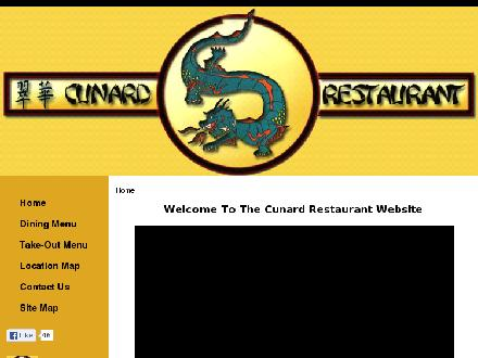Cunard Restaurant (506-773-7107) - Website thumbnail - http://www.cunardrestaurant.com