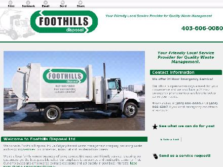 Foothills Disposal Ltd (403-606-0080) - Onglet de site Web - http://foothillsdisposal.com