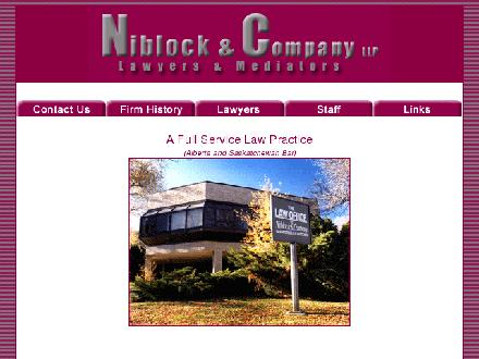 Niblock &amp; Company LLP (403-580-8402) - Onglet de site Web - http://www.niblock.ca