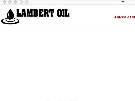 Lambert Oil (1986) Ltd (416-531-1158) - Website thumbnail - http://lambertoil.ca/