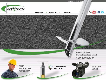 Postech Metal Foundations (613-297-1990) - Website thumbnail - http://www.postech-foundations.com