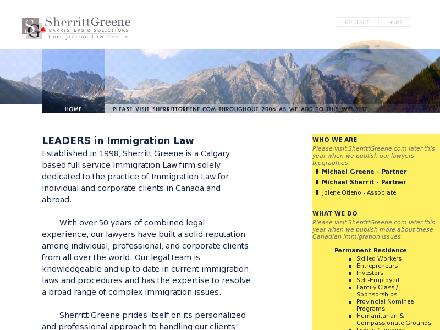 Sherritt Greene Barristers & Solicitors (403-237-0202) - Website thumbnail - http://www.sherrittgreene.com