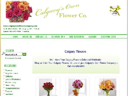 Calgary's Own Flower Co (403-262-2699) - Website thumbnail - http://www.calgarysownflowercompany.com