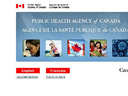 Agence de la sant&eacute; publique du Canada (403-292-6500) - Onglet de site Web - http://www.aspc-phac.gc.ca